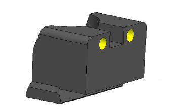 REX Zero 1 Rear Sight Tall